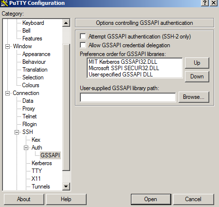 KB-2375: How to disable SSO with Centrify Putty version 0 62?